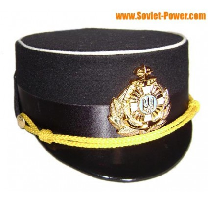 Ukraine Navy Woman Officer black hat