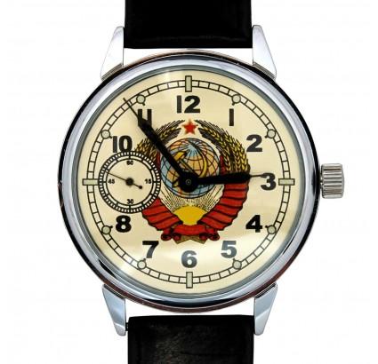 Reloj de pulsera ruso Molnija URSS escudo de armas de unión soviética
