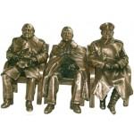 """The Big Three"" Conference bronze of Stalin, Roosevelt & Churchill"