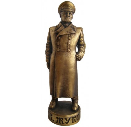 High Russian bronze soviet bust of Marshall Zhukov