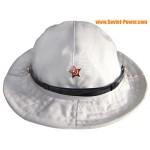 White military hat PANAMA Afghanka boonie hat