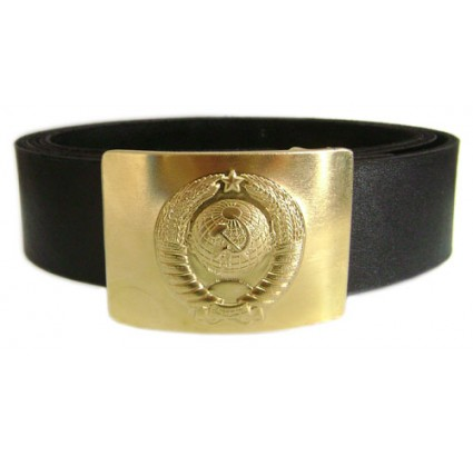 Russian military police Officers belt with Arms of USSR