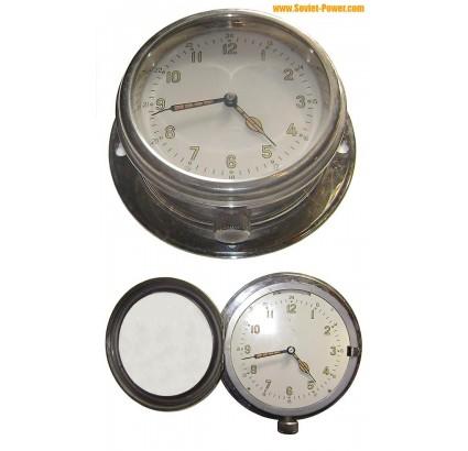 ソビエト海軍船/潜水艦時計クロームメッキの腕時計