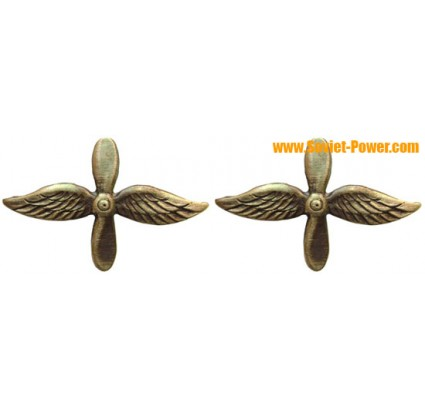 Soviet Air Force & Naval Aviation COLLAR PINS