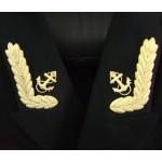Insignia del cuello naval para la chaqueta del oficial ruso