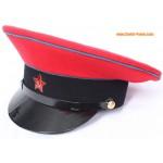 Sowjetischen / russischen Bahnhof Kommandant Visier Hut
