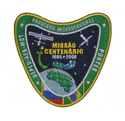 Sojus TMA-8 Russischer Brasilianer Pontes Space Program Patch