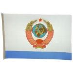 Bandiera russa dalla nave ministro della marina