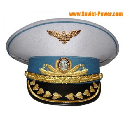 Ukraine Air Force General parade visor hat