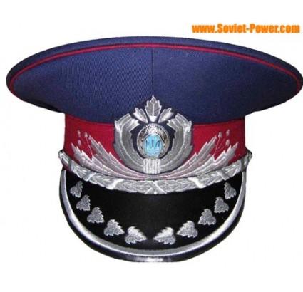 Ukraine Polizei MVS Generals blau Visier Hut