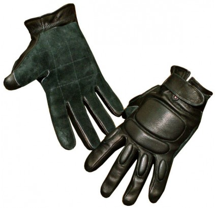 Winter leather tactical Gloves with fist protection Ratnik