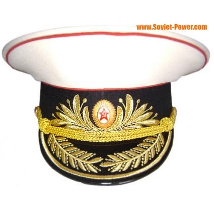 Soviética / Rusia Artillería Generales sombrero blanco visera