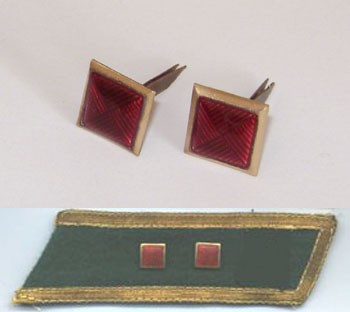 Soviet / Russian Army 2 red cubes for collar tabs