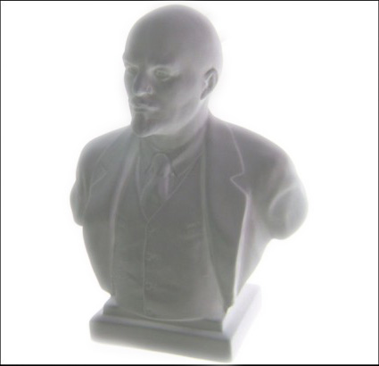 Bust of russian communist revolutionary Vladimir Ilyich Ulyanov (aka Lenin) from LFZ
