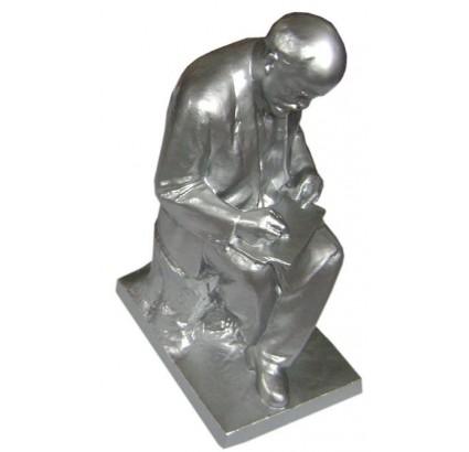 Russian big metal Lenin sculpture by L. Fridman