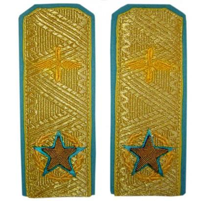 空軍の刺繍ショルダーボードのチーフマーシャル