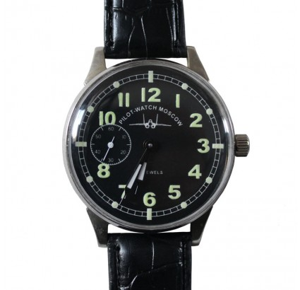 Soviet / Russian PILOT wristwatch MOLNIYA 18 Jewels