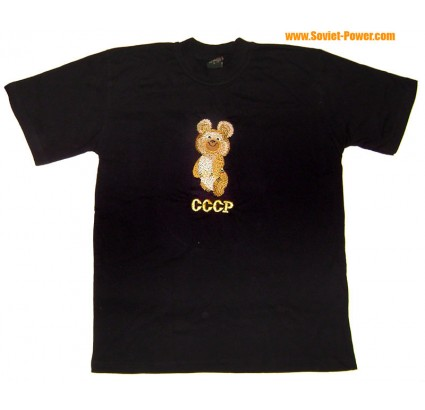 Embroidery T-SHIRT with OLYMPIC BEAR USSR