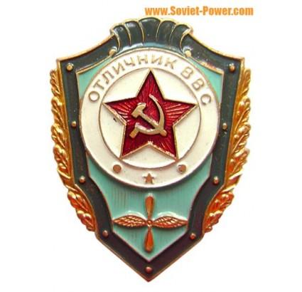 """Fuerza Aérea de Rusia """"Excelente Cadete VVS"""" insignia militar"""