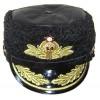 提督ロシア海軍艦隊の冬のパパーハ帽子の動物の革