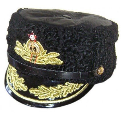 ADMIRAL Russian NAVY Fleet winter PAPAHA HAT Animal leather