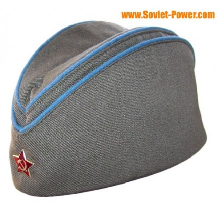 Soviet Military AIR FORCE hat PILOTKA + badge