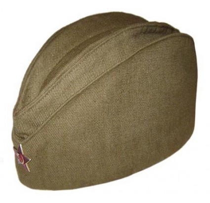 Russian soldiers military green hat Pilotka