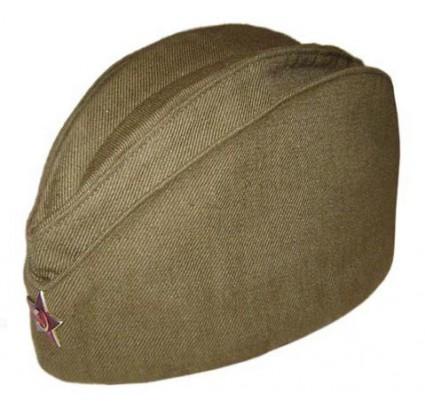 ロシアの兵士軍の緑の帽子飼料キャップ