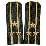 ソ連軍海軍艦隊役員黒いショルダーボード