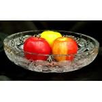 antique czech crystal  vase old glasses for fruits vegetables and sweets