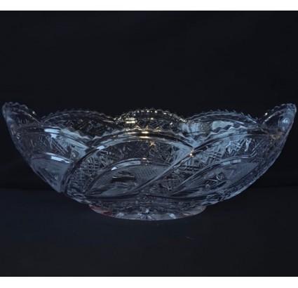 果物野菜やお菓子用アンティークチェコクリスタル花瓶メガネ