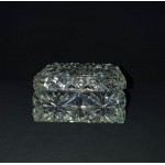 Czech crystal plate for butter or candy