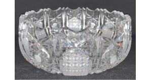 antique czech crystal  vase old glasses for fruits vegetables and sweets