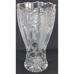 vintage czech crystal  vase glasses water for flowers
