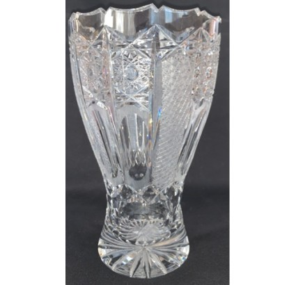 jarrón de cristal checo antiguo vasos agua para flores