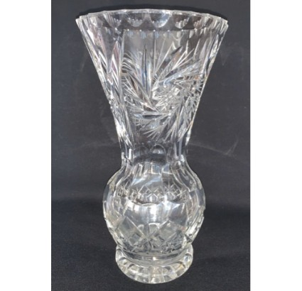 Antique Czech crystal  vase glasses water for flowers