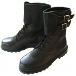 Russian special forces OMON tactical winter leather boots with buckles