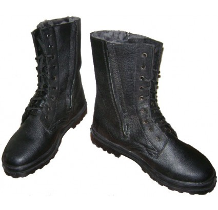Russian Army Officer leather WINTER BOOTS on zippers