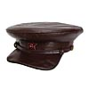 Soviet Officer brown leather hat