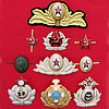 10 MILITARY BADGES from USSR Army + Naval metal insignia