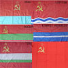 6 Navy flags of Soviet Union republics