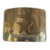Russian officer golden buckle for belt with an anchor of the Navy