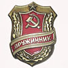 "Soviet Union badge ""COMBATANT"" of USSR Army"