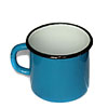 Old Soviet enameled blue cup metal mug