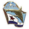 Naval Fleet VMF FLAG Badge with SHARK 1983