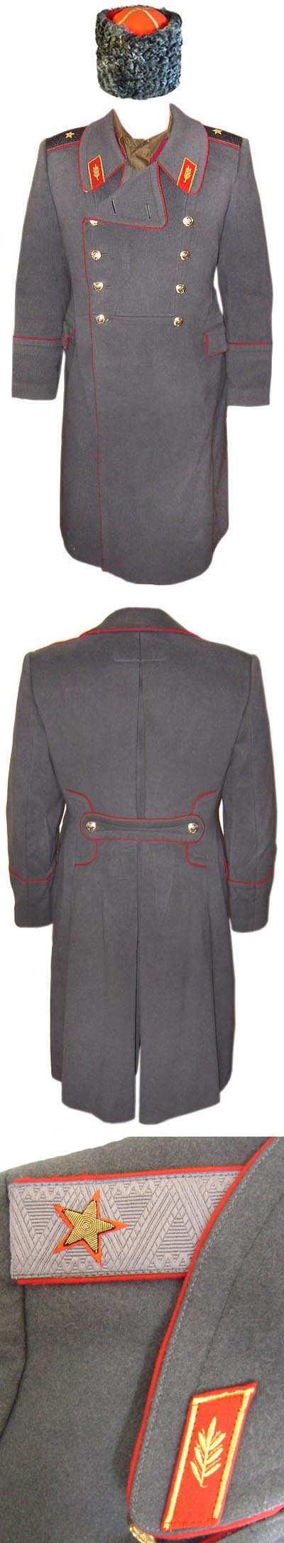 USSR Army parade GENERAL Long winter Great Coat