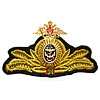 Russian Fleet ADMIRAL embroidery hat badge
