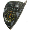 Russian map curvimeter + compass + thermometer camo keychain