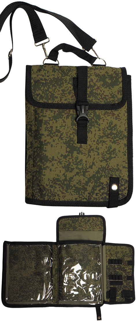 Russian Army Officers digital Map Case pixel bag