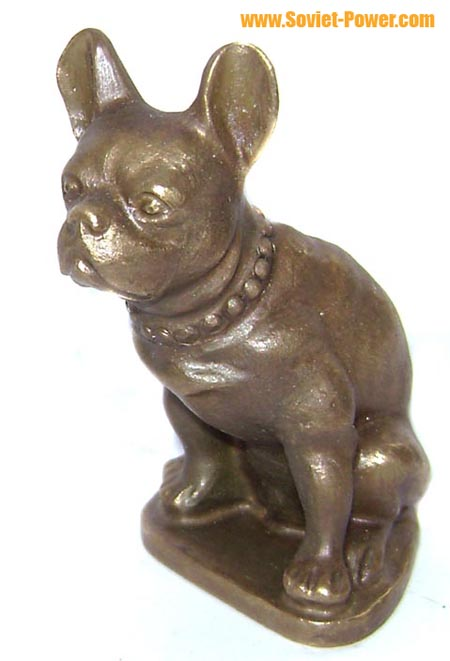"Soviet Bronze Figurine ""French Bulldog"""
